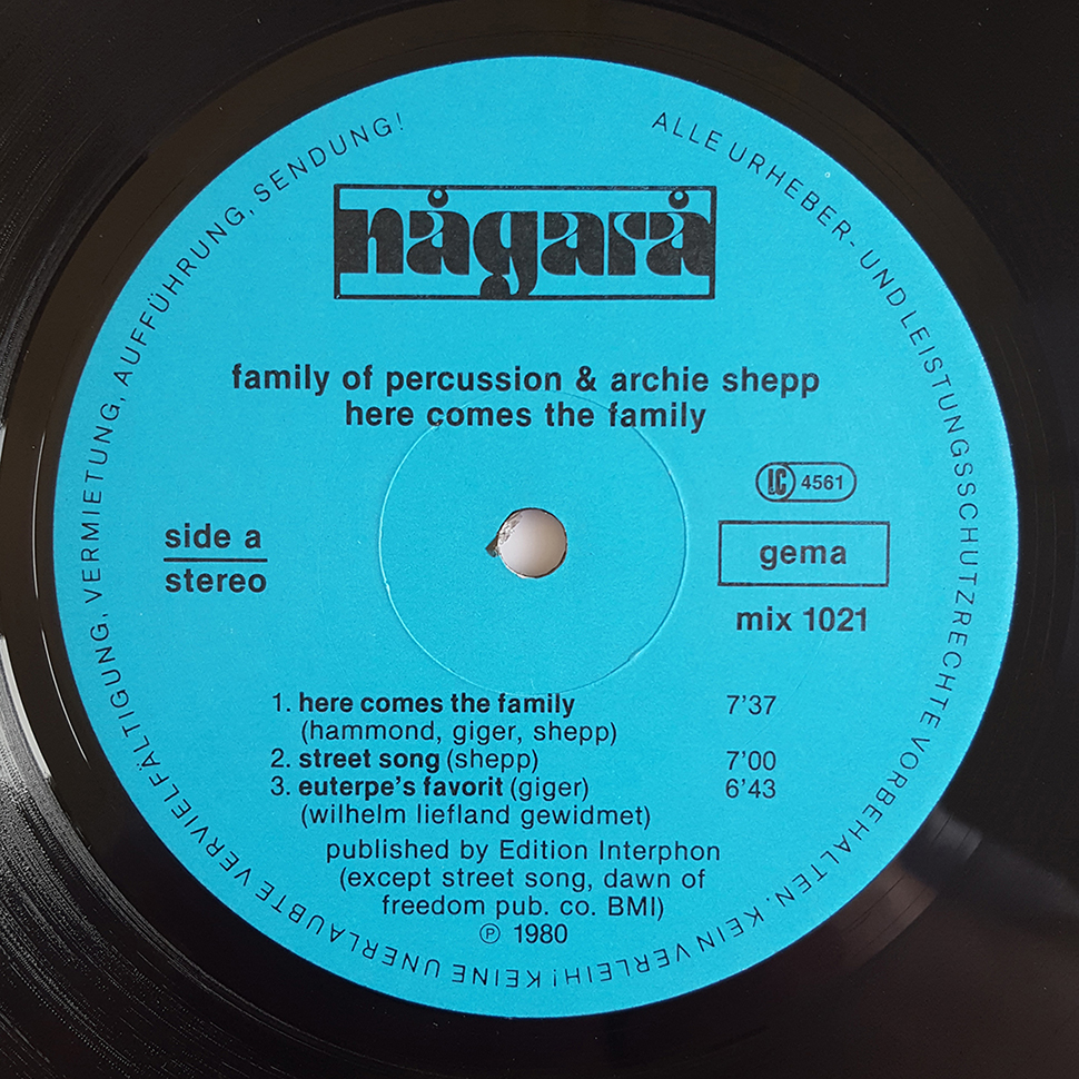 Family Of Percussion & Archie Shepp – Here Comes The Family