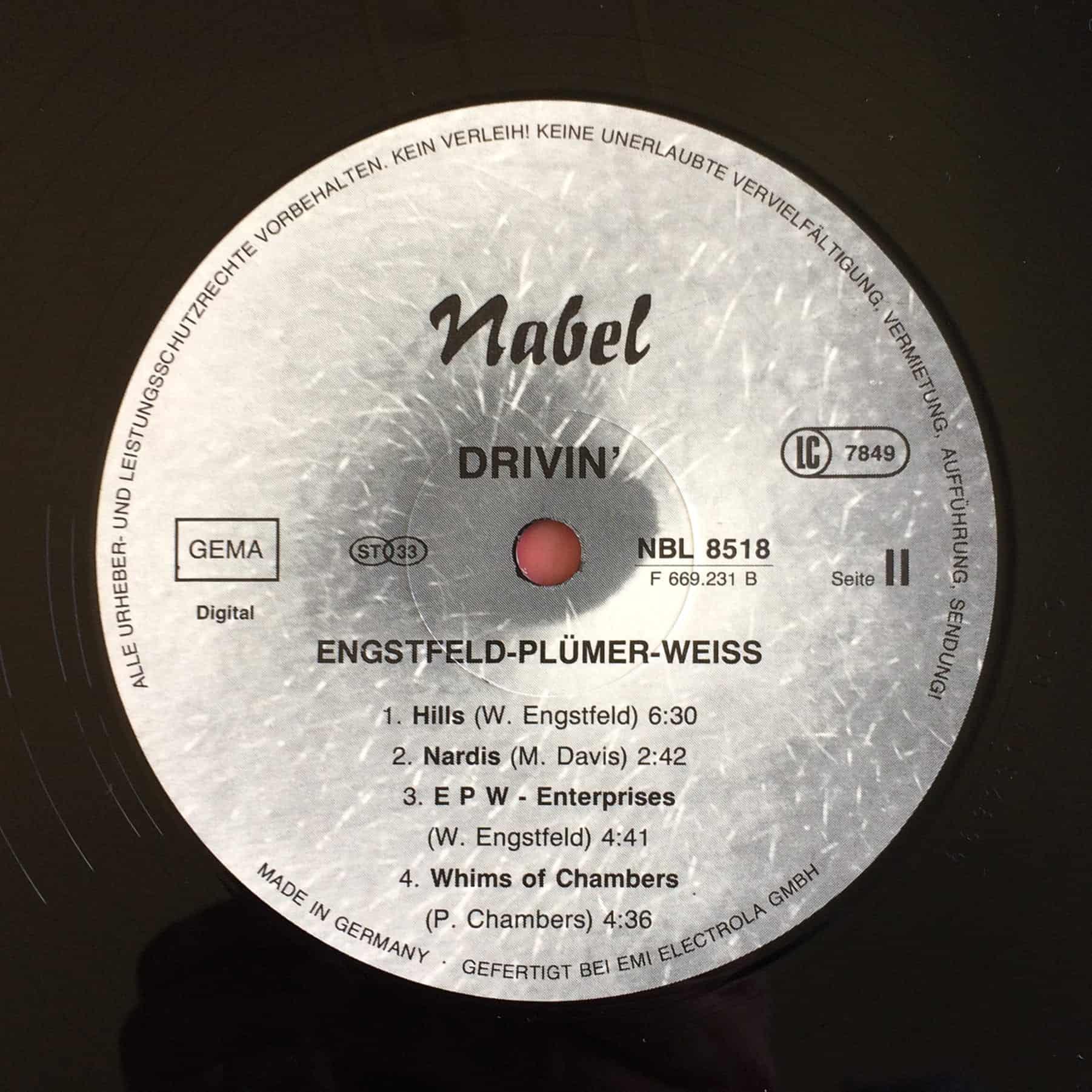 Engstfeld, Plümer, Weiss – Drivin'