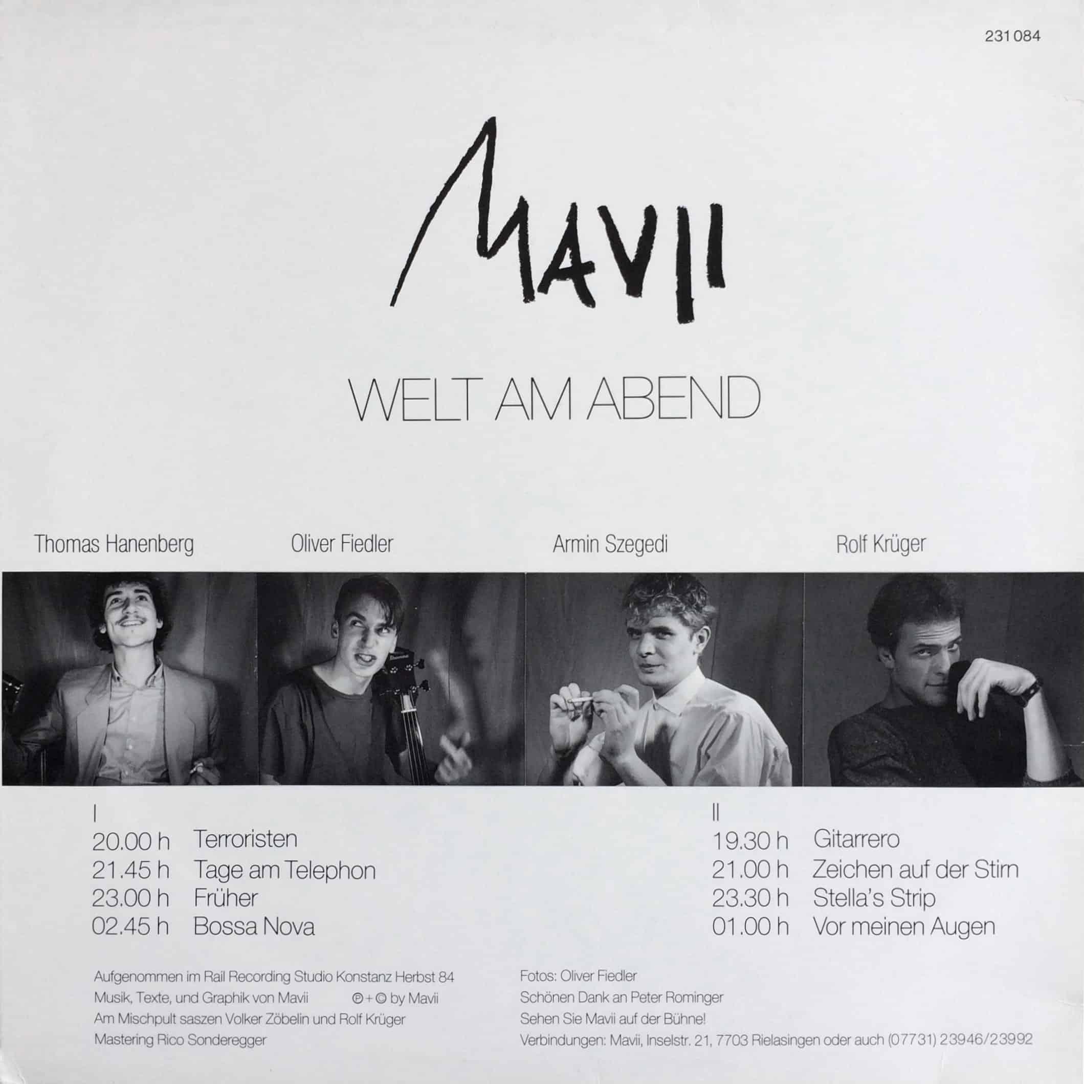 Mavii – Welt Am Abend – 231084, Switzerland, 1984