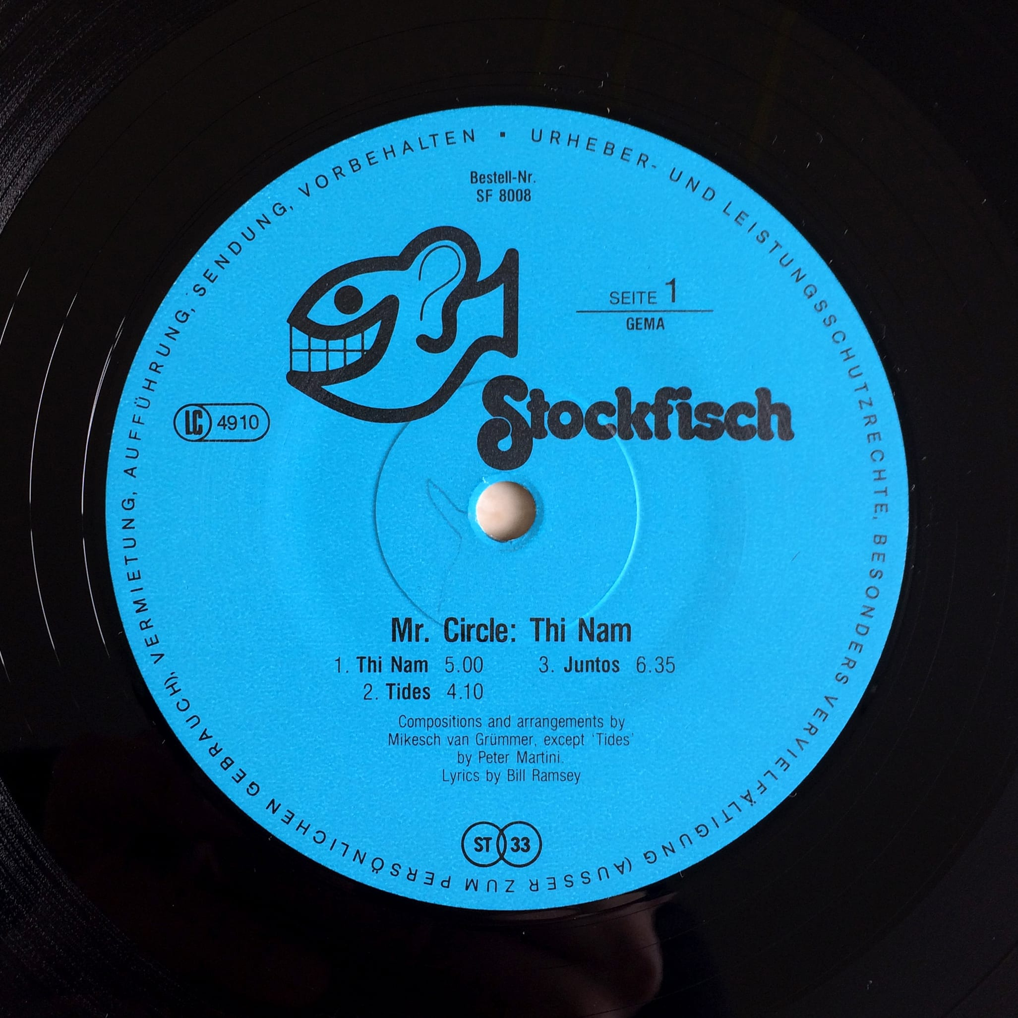 Mr. Circle ‎– Thi Nam 1981 Stockfisch Records ‎– SF 8008