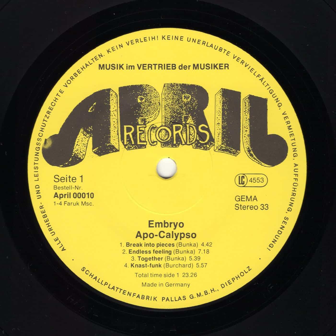Embryo – Apo Calypso 1977