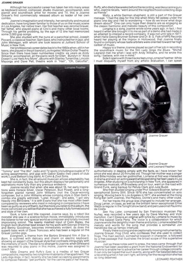 Joanne Grauer introducing Lorraine Feather – Joanne Grauer introducing Lorraine Feather