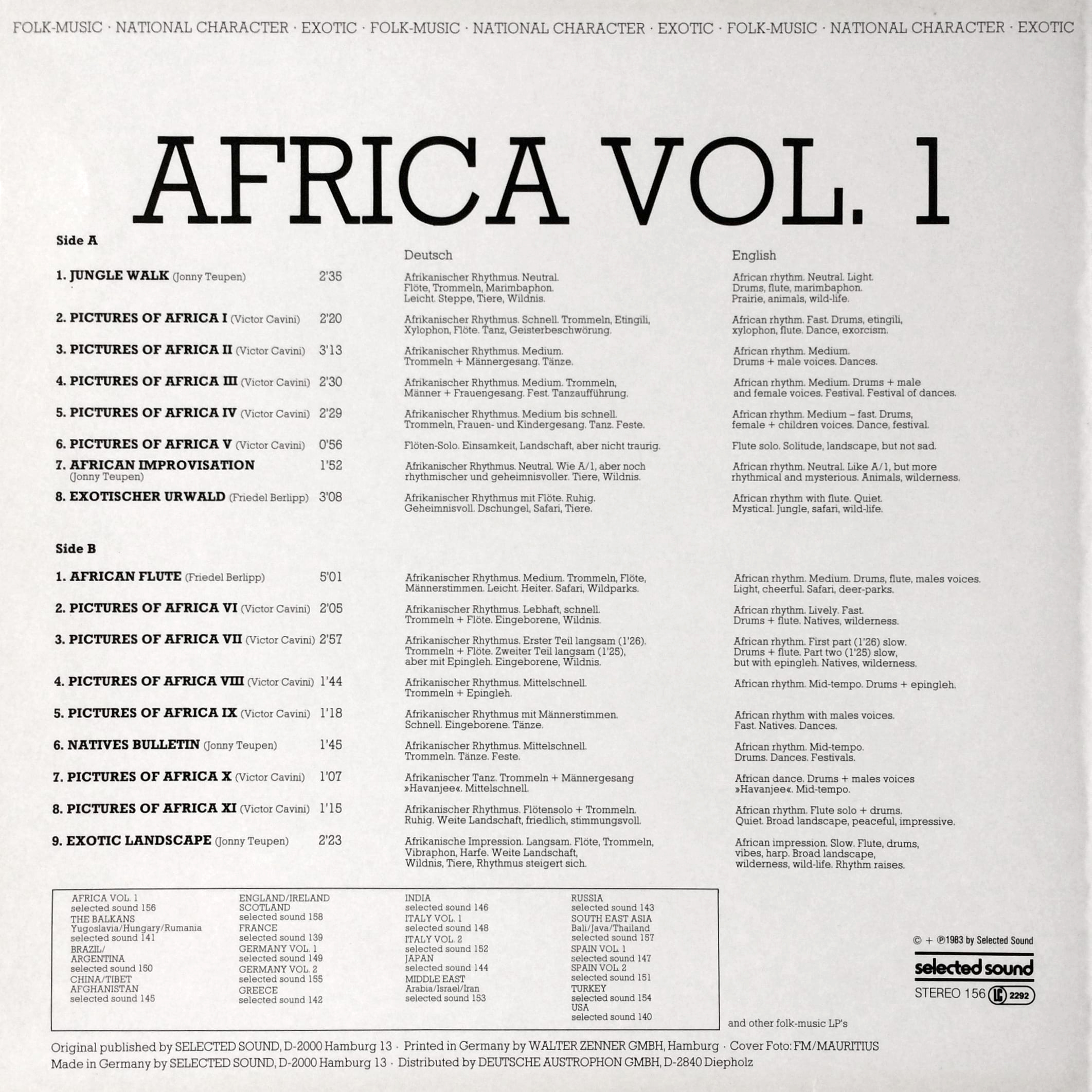 Selected Sound – Folklore-Serie – AFRICA VOL.1