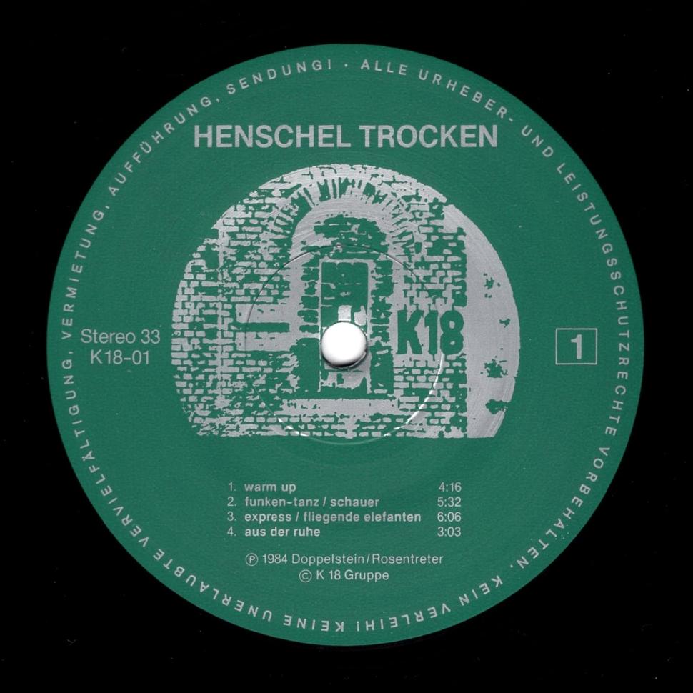 Henschel Trocken Henschel Trocken – K18 – K18-01 Germany 1984
