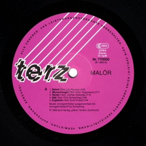Malör - Malör, Terz – 710005 G, Germany, 1985
