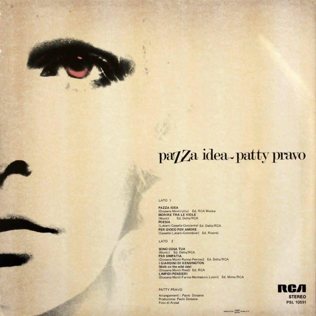 Patty Pravo  Pazza Idea –  RCA Italiana – PSL 10591 Italy 1975
